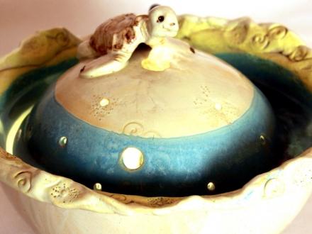 Brunnen mit Schildkröte