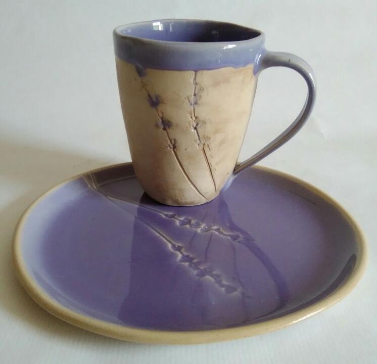 Geschirr-Set Lavendel