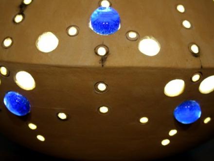 Lampe Seeigel bunt