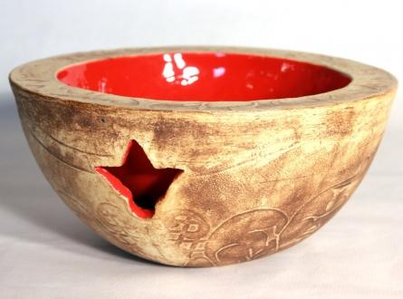 Schale doppelwandig rot