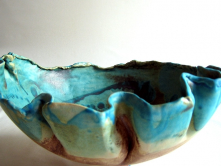 Meeres-Schale mit Falten